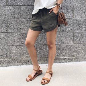 Shoes - 🆕 Summer - Tan Braided Flat Ankle Strap Sandals